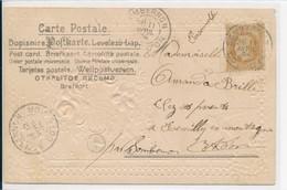 10 Centimes Empire Lauré Sur Carte De Sombernon (21 Cote D'Or) Pour Remilly En Montagne - Utilisation Tardive En 1904 ! - Postmark Collection (Covers)