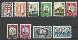 LETTLAND Latvia 1931 Michel 180 - 189 * - Latvia