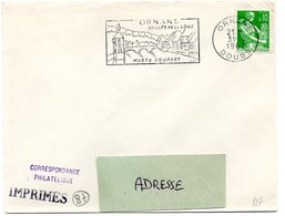 DOUBS - Dépt N° 25 = ORNANS 1962 = FLAMME Non Codée = SECAP  ' Vallée De La Loue / Musée COURBET ' - Marcophilie (Lettres)