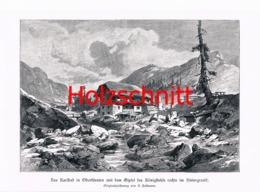 028-2 Karlbad Kärnten Bauernbad Alm Großbild HS 1899!! - Historische Dokumente