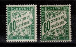 Taxe YV 38 N* En 2 Teintes Différentes - Postage Due