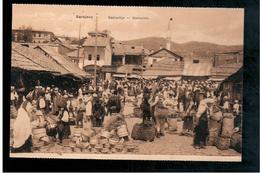 BOSNIA Sarajevo Bašcaršija Marktplatz Ca 1915 OLD POSTCARD - Bosnia And Herzegovina