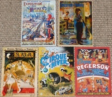 Lot De 5 CPM Publicitaires (cirques, Expositions): Cirque D'Hiver, Régerson, Expositions De Paris (1900), Du Travail... - Autres