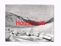 034-3 Klostertal (Stuben ?) Schnee Arlberg Großbild HS 1899!! - Historische Dokumente