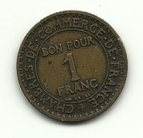 1922 - Francia 1 Franc - H. 1 Franco