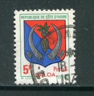 COTE D'IVOIRE- Y&T N°347- Oblitéré (armoiries) - Côte D'Ivoire (1960-...)