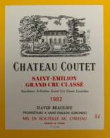 10325 - Château Coutet 1982 Saint Emilion - Bordeaux