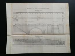 ANNALES PONTS Et CHAUSSEES (Dep71)-Plan D'amélioration Du Canal Entre Digoin Et Maimbray -1899 -Imp.L Courtier - (CLC35) - Nautical Charts