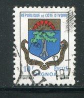 COTE D'IVOIRE- Y&T N°351- Oblitéré (armoiries) - Côte D'Ivoire (1960-...)