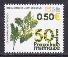 Montenegro 2019 Flora Flowers Plants Mimosa Fest Carnival MNH - Montenegro