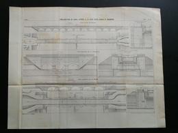 ANNALES PONTS Et CHAUSSEES (Dep71)-Plan D'amélioration Du Canal Entre Digoin Et Maimbray -1899 -Imp.L Courtier - (CLC36) - Nautical Charts