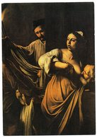 CPSM   PEINTURE NAPOLITAINE   CARAVAGGIO   LES SEPT OEUVRES DE LA MISERICORDE    FEMME OFFRANT SON SEIN - Malerei & Gemälde