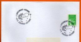 973 KOUROU LANCEMENT ARIANE 5  2000  Lettre Entière N° HH 848 - Postmark Collection (Covers)
