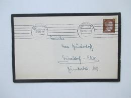 3. Reich Trauerbrief 1942 Mit Todesanzeige Wehrmacht Soldat Im Flak Regiment In Estland Gefallen / Begraben - Briefe U. Dokumente
