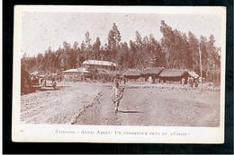ETHIOPIE  Addis Abeba Un Carrefour Près Du Ghébi Ca 1920 OLD  POSTCARD - Ethiopië