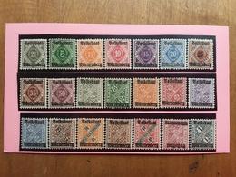 GERMANIA - ANTICHI STATI - WURTTEMBERG - Nn. 90/113 * (mancano 3 Valori) + Spese Postali - Wurtemberg