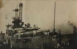 Slagschip (Battle Ship) Arkansas In Rotterdam 19?? FOTOKAART - Rotterdam