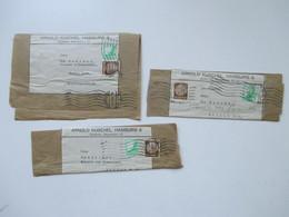 3. Reich 1936 Streifbänder Flugpostmarke Nr. 529 MiF Arnold Kuschel Hamburg Nach Berlin Gesendet - Briefe U. Dokumente