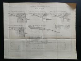 ANNALES DES PONTS Et CHAUSSEES (Dep 73) - Plan Du 3ème Bassin à Flot De ROCHEFORT - Gravé Par Macquet - 1895 (CLC38) - Nautical Charts