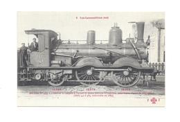 LES LOCOMOTIVES EST    MACHINE  SERIE N° 445   POUR TRAINS LEGERS DE VOYAGEURS CONSTRUITE  EN 1885   N°1 - Trains