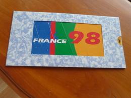 Coupe Du Monde France 98 World Cup Football France Pub Publicité Carte De Voeux 1997 Footix Officiel France à  Système - Habillement, Souvenirs & Autres