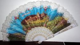 """Eventail Vintage """"Souvenir De Monaco"""" - Fans"""