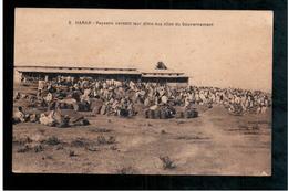 ETHIOPIE  Harar Paysans Versant Leur Dime Aux Silos Du Gouvernement Ca 1910 OLD  POSTCARD - Ethiopië