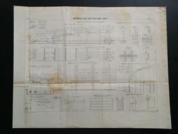 ANNALES DES PONTS Et CHAUSSEES (Dep 42) - Plan De Maçonneries Avec Joints Métalliques - 1899 - Imp.L Courtier (CLC39) - Cartes Marines