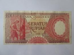 Indonesia 100 Rupiah 1958 Banknote - Indonésie