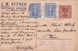 AUTRICHE 1923 ENTIER POSTAL/GANZSACHE/POSTAL STATIONERY CARTE AVEC CACHET FERROVIAIRE/ZUGSTEMPEL UNTER DRAUBURG-ZELTWEG - 1918-1945 1st Republic
