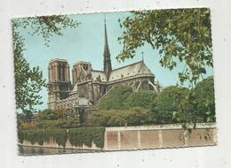 Cp , 75 , Paris , ABSIDE DE LA CATHEDRALE NOTRE DAME , Voyagée 1963 , Ed. Leconte - Notre Dame De Paris