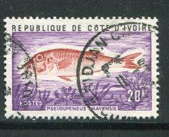 COTE D'IVOIRE- Y&T N°355- Oblitéré (poissons) - Côte D'Ivoire (1960-...)