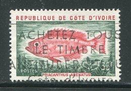 COTE D'IVOIRE- Y&T N°356- Oblitéré (poissons) - Côte D'Ivoire (1960-...)
