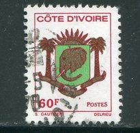 COTE D'IVOIRE- Y&T N°395- Oblitéré (armoiries) - Côte D'Ivoire (1960-...)