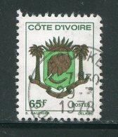 COTE D'IVOIRE- Y&T N°396- Oblitéré (armoiries) - Côte D'Ivoire (1960-...)