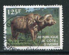 COTE D'IVOIRE- Y&T N°652- Oblitéré (Buffles) - Côte D'Ivoire (1960-...)