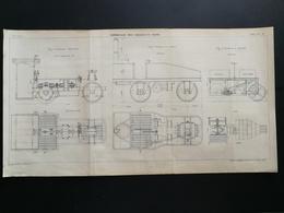 ANNALES DES PONTS Et CHAUSSEES - Corroyage Des Digues En Terre - Gravé Par G.Meyer - 1902 (CLC43) - Cartes Marines
