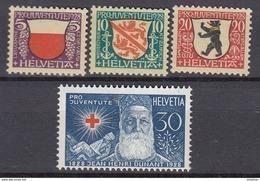 SCHWEIZ  229-232, Postfrisch **, Pro Juventute: Wappen  1928 - Pro Juventute