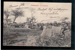 ETHIOPIE  Dirre Daoua - Un Campement 1911 OLD  POSTCARD - Ethiopia