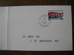 Carte Polynésie 1970  N° 73 Des Postes Et Télécommunications  Papeete Tahiti Timbres Edifices     à Voir - Polynésie Française