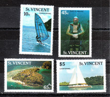 St. Vincent  - 1988. Windsurf, Vela, Immersione. Windsurfing, Sailing, Diving. Complete MNH Series - Vacanze & Turismo