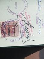 VISA RÉPUBLIQUE DÉMOCRATIQUE DU CONGO DANS VIEUX PASSEPORT PASSPORT REISEPASS BELGIQUE 2 TIMBRES  FISCAUX CACHETS 1969 - Documents Historiques