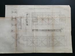 ANNALES DES PONTS Et CHAUSSEES (Dep 62) Plan De Construction Du Canal De Lens - Gravé Par Macquet - 1887 (CLC44) - Cartes Marines