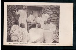 ETHIOPIE  Mission De Abyssinie - Classe D'arthmetique Au College D'Alitiena Ca 1910 OLD  POSTCARD - Ethiopië