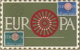 CARTOLINA ITALIA REPUBBLICA 1960 FDC (Silligato) Europa - 6. 1946-.. Repubblica