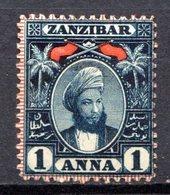 ZANZIBAR - (Protectorat Britannique) - 1898 - N° 44 - 1 A. Bleu-noir - (Sultan Seyyid Hamed Bin Thweini) - Zanzibar (...-1963)