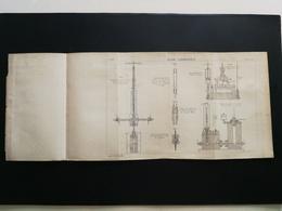 ANNALES DES PONTS Et CHAUSSEES - Plan D'acide Carbonique - 1894 (CLC47) - Technical Plans