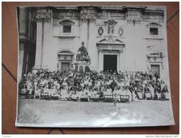 LORETO PELLEGRINI DAVANTI ALLA BASILICA  FOTOGRAFIA  CM.29X23  ANNI  '30/'40 - Luoghi