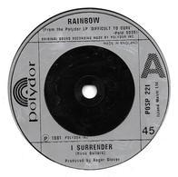 "Rainbow    ""  I Surrender  "" - Vinyles"