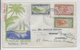 TOKELAU - 1948 -  ENVELOPPE FDC De NUKUNONO => REISDORF (LUXEMBOURG) READRESSEE à BRUXELLES (BELGIQUE) - Great Britain (former Colonies & Protectorates)